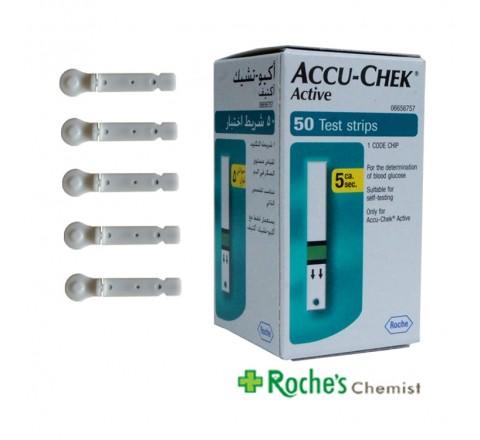 AccuChek Active Test Strips x 50 + 5 SoftClix Lancets