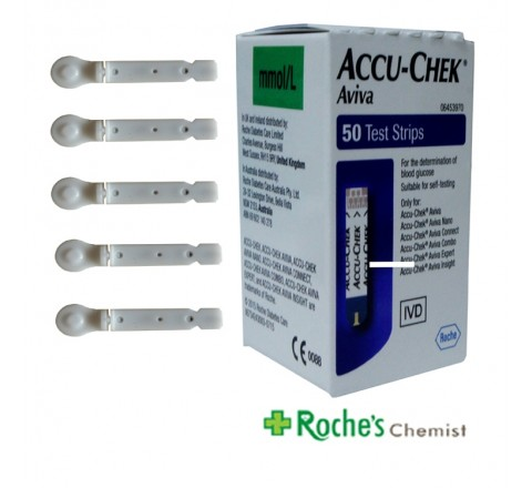 Aviva Test Strips x 50 + 5 Softclix lancets
