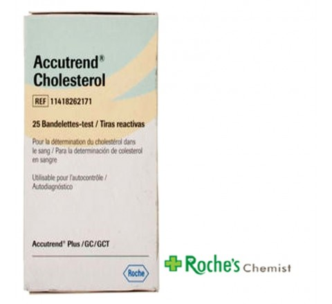 Accutrend Cholesterol Test Strips x 25 - For Measuring Blood Cholesterol
