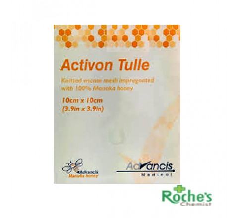 Activon Tulle 10x10cm ( CR3658) x 5 Dressings