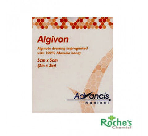 Algivon 5cm x 5cm Manuka Honey Dressings x 5