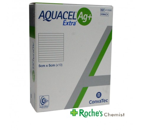 Aquacel Ag+ Extra 5x5 cm x 10 dressings