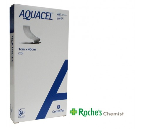 Aquacel Ribbon 1cm x 45cm Narrow 5 pieces