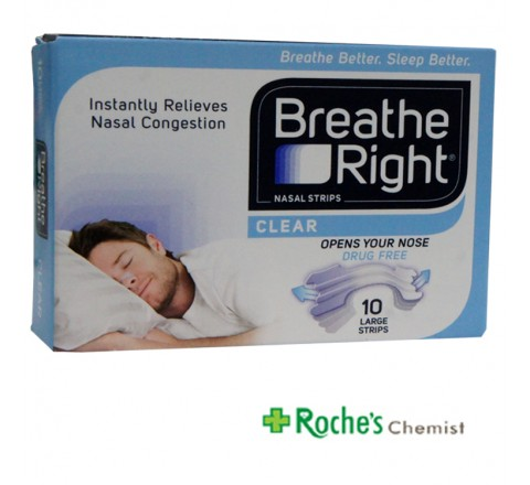 Breathe Right 10 Large Clear Strips for snoring