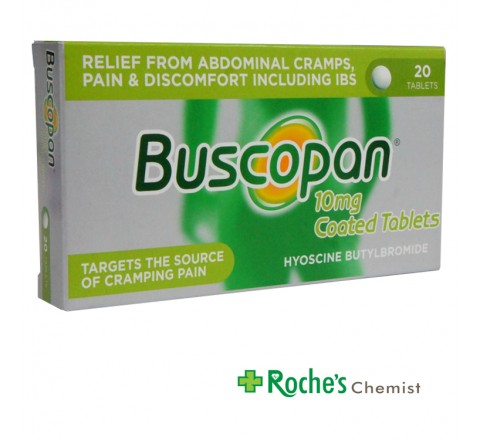 Buscopan 10mg tablets x 20 for painful cramps