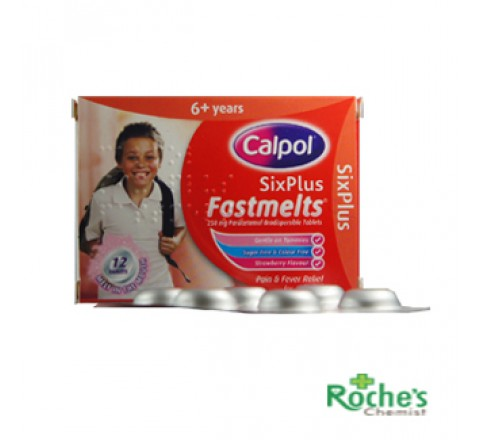 Calpol fastmelts 6years +