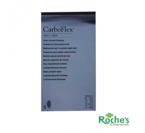 Carboflex S7661 8 x 15cm Dressings x 5
