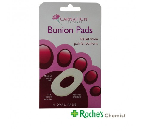 Carnation Bunion Pads x 4 Oval Pads
