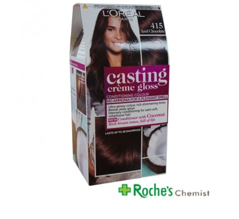 Casting Creme Gloss 415 Iced Chocolate - Lasts 24 shampoos