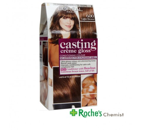 Casting Creme Gloss 600 Light Brown - Lasts 24 shampoos