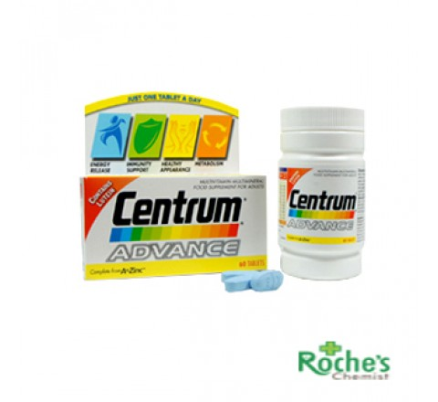 Centrum Advance Multi-Vitamin / Multi-Mineral tablets for Adults x 60)