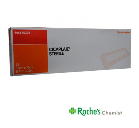 Cicaplaie -  Sterile Island Dressings 35cm x 10cm with Adhesive Border