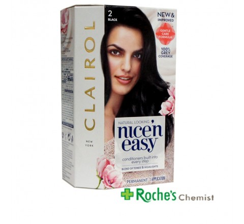 Clairol Nice n Easy 2 Black Permanent