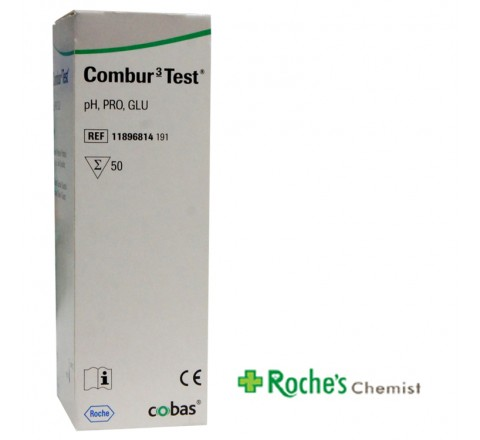 Combur 3 Test x 50 strips for pH, Protein and Glucose