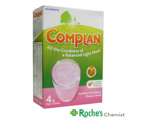 Complan Sachets 4 x 55g Flavour Strawberry