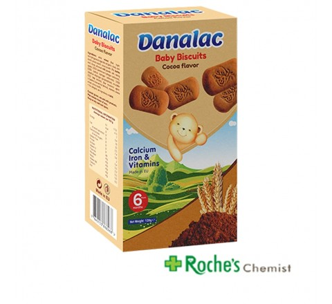 Danalac Baby Biscuits Chocolate Flavour 120g
