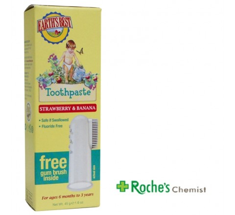 Earths Best Toothpaste 45ml Strawberry and Banana