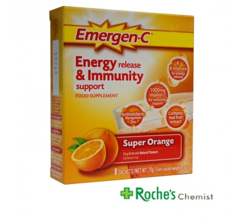 Emergen C Sachets x 8 Vitamin C with minerals