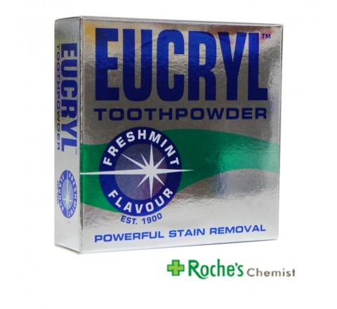 Eucryl Toothpowder Freshmint 50g Stain Remover