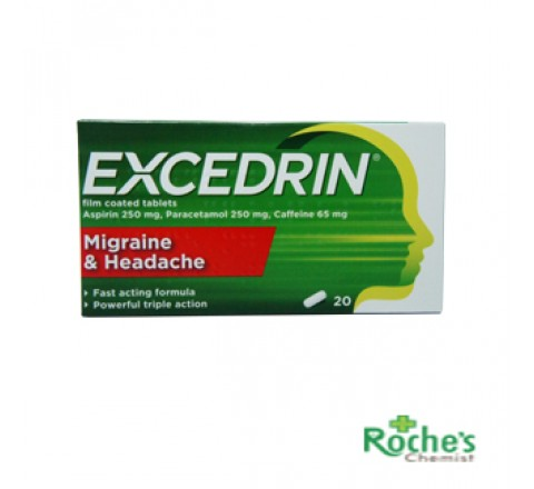 Excedrin film coated tablets x 20