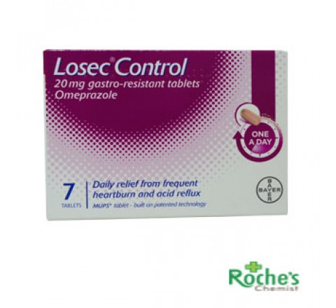 Losec Control 20mg tablets x 7