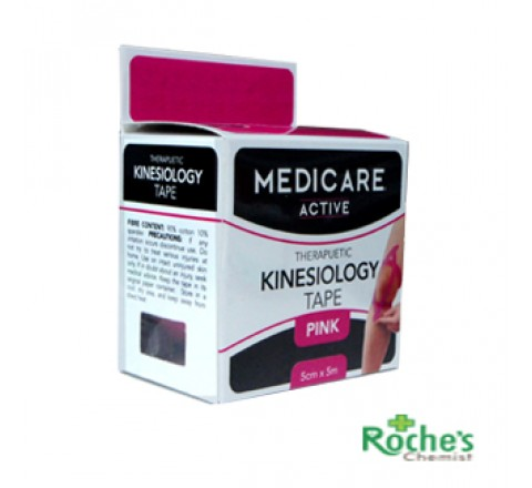 Medicare Active Kinesiology tape pink 5cm x 5cm