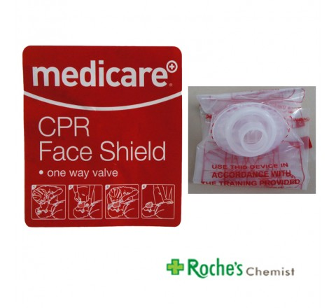 Medicare CPR Face Shield with One Way Valve