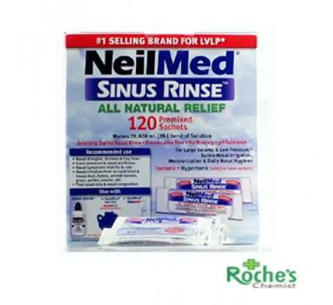 Neilmed Rinse kit with 120 sachets