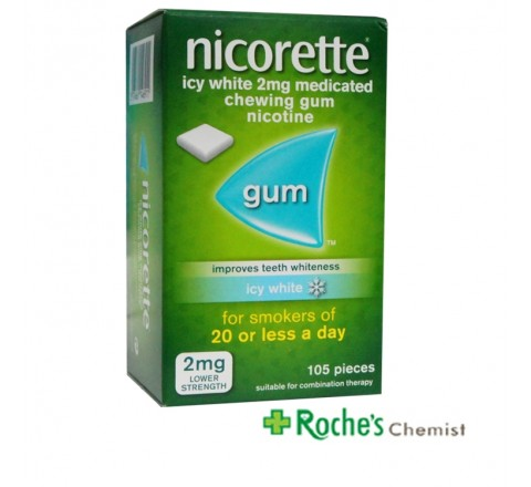 Nicorette Gum 2mg Icy White 105 pieces
