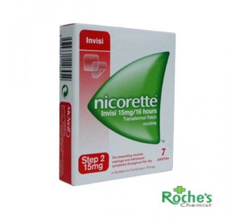 Nicorette Invisi Step 2 15mg Patches x 7