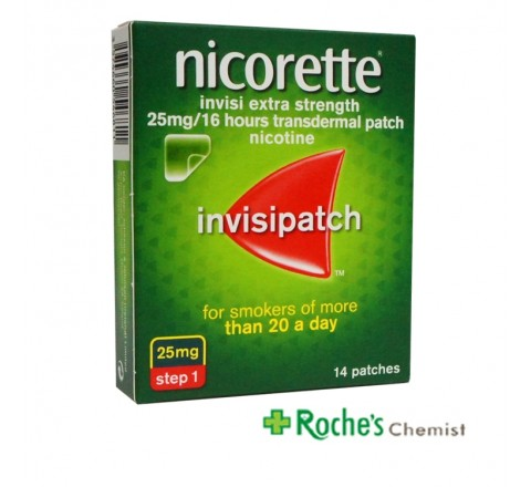 Nicorette Invisi Step 1 25mg 14 patches