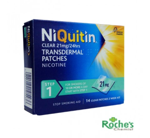 Niquitin Clear 21mg patches x 14 patches