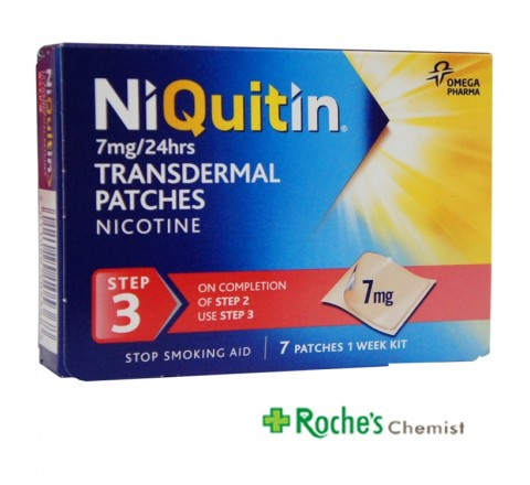 Niquitin Step3 7mg Patches x 7