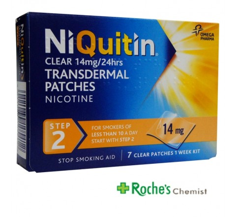 Niquitin Clear Step 2 14mg x 7 Patches