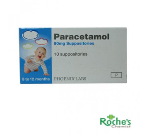 Paracetamol Suppositories 80mg x 10