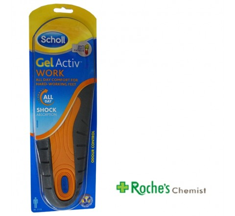 Scholl Gel Activ Gel Insoles Work 1 Pair