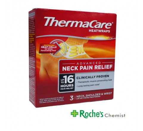 Thermacare Heatwraps for Neck Shoulder and Wrist  x 3