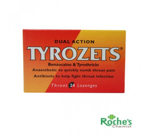 Tyrozets Throat Lozenges x 24